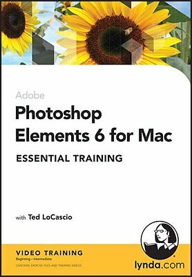 Photoshop Elements 6 for Mac Essential Training CD-ROM 2008 **FREE UK DELIVERY**