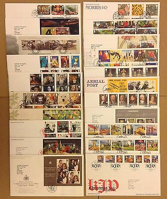 GB 2011 Collection Of 21 Typed Address FDC First Day Covers Tallents House SHS