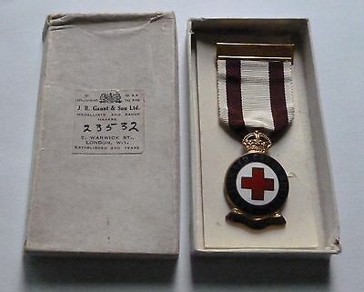Boxed Red Cross Medal / Numbered / Leaflet / Kathleen Coyne / Issued 1943