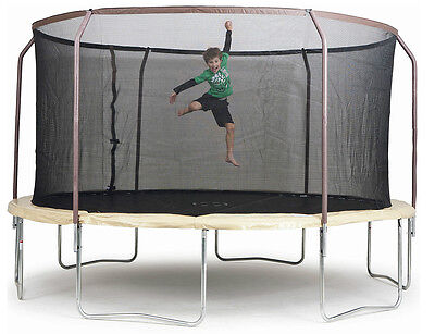 Trampoline 14ft Round Outdoor Net Cover Free Mat Steel Frame Flex Metal Ring