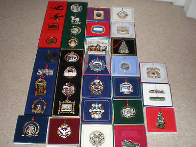 Complete Set / Lot 37 White House Historical Association Ornaments 1981 - 2016 +
