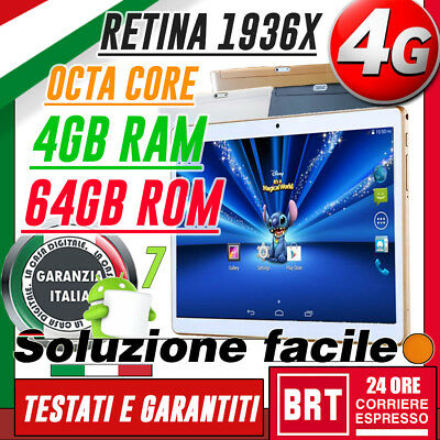 """TABLET 10.1"""" IPS 4G LTE OCTA CORE 2.0GHz 4GB RAM 64GB ROM ANDROID 24H 10"""" 9"""" 9,6"""