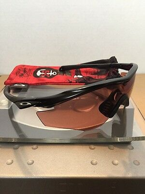 ••Oakley M2 Polished Black Frame Silver Icons G30 Lens Fast Free S/H••