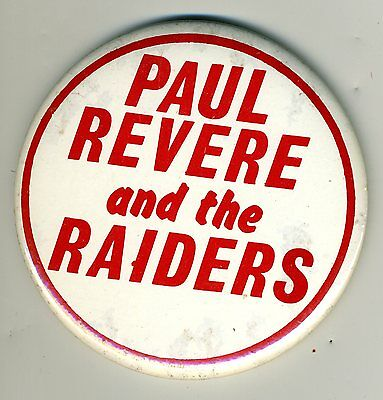 Paul Revere and the Raiders 1960s Rock & Roll Music Pinback Button
