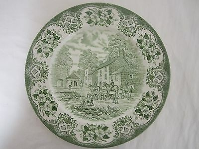 OLD INNS SERIES ENGLISH IRONSTONE TABLEWARE COTTAGE INN SCENE 24cm Plate