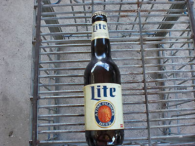 Vintage bottle miller lite glow in the dark labels