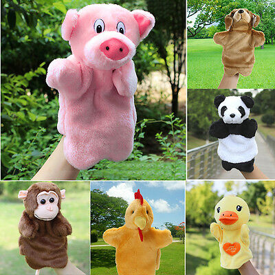 Animal Wildlife Hand Glove Puppet Soft Plush Puppets Kid Childrens Learning Toys