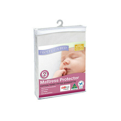 Protect-A-Bed Terry Bassinett Mattress Protector 81x40cm - NEW