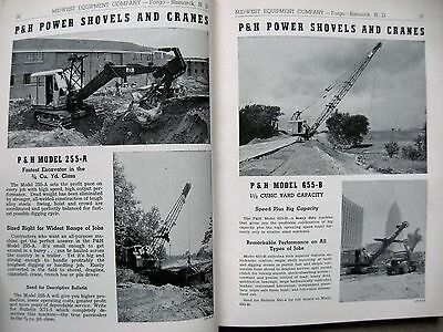 1953 Hough P&H Shovel Galion Roller Grader Clyde Cranes Midwest Equipment Book