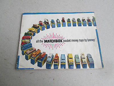 Rare 1960 Matchbox (Lesney) Collector's Catalogue UK Second Edition 32 pgs