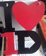 One Direction wooden name plaque