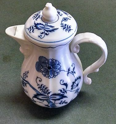 "Blue Danube Coffee Pot With Lid  7""  Banner Mark"