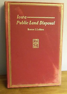 Rare 1942 IOWA PUBLIC LAND DISPOSAL by Roscoe Lokken