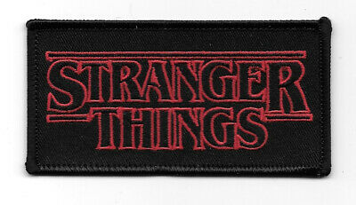 Stranger Things TV Series Name Logo Embroidered Patch NEW UNUSED