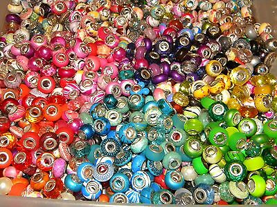 NEW HOT Colors 30/pcs Charm 925 Silver European Assorted Acrylic BEADS (sp4)