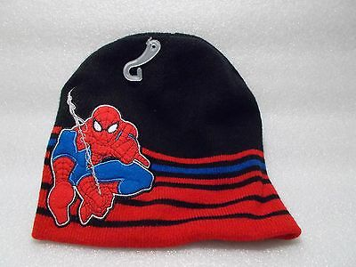 NWOT Reversible Ultimate SpiderMan Beanie Beret Boys Knit Hat Spiderman One Size