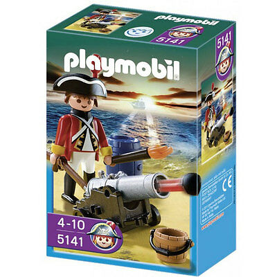 Playmobil Redcoat Guard With Cannon - NEW