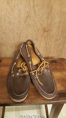 SPERRY Gold Cup lamb skin boat shoes mens size 8 M