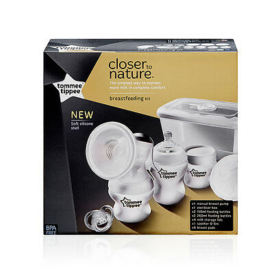 Tommee Tippee Closer To Nature Manual Breast Pump Kit - NEW