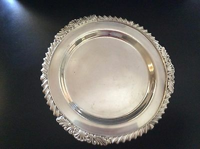 Strachan silver plated round tray