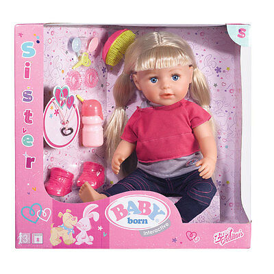 Baby Born Interactive Sister Doll - NEW