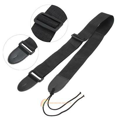 Portable Nylon Adjustable Belt Guitar Strap for Electric Acoustic Guitar Bass