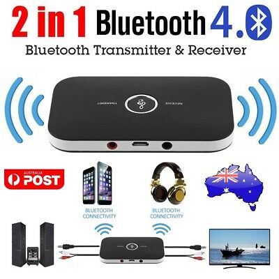 2in1 3.5mm Wireless Bluetooth Transmitter Receiver Stereo Audio Music Adapter