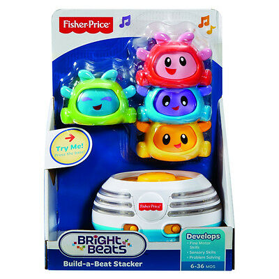 Fisher-Price Bright Beats Build-A-Beat Stacker - NEW