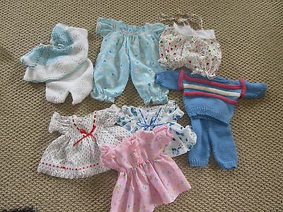 Hand made Cabbage Patch doll clothes. 7 outfits.