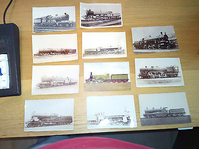 A Collection Of Vintage Steam Train Postcards