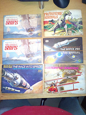 6 Brooke Bond complete picture cards
