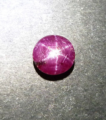 2.80 Ct Natural star ruby deep pinkish red round cabochon loose gemstones