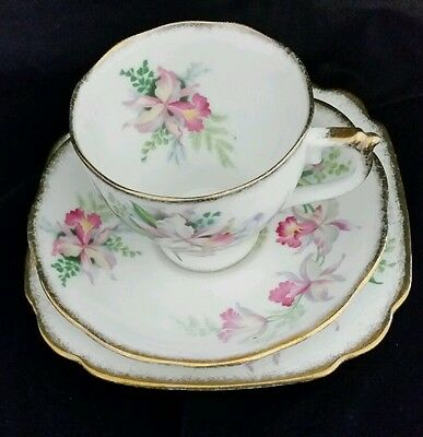 Roslyn Sweet Romance Cup, Saucer, Plate in Bone China
