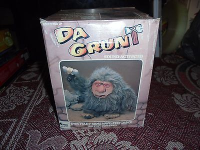 1989 Da Grunt Sound Activated Aa Battery Operated Caveman Troll Boxed