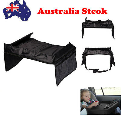 Black Baby Kids Car Safety Seat Snack Play Travel Tray Drawing Board Table AU