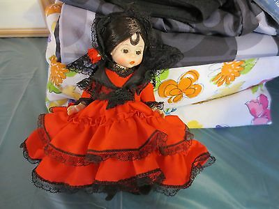 """Madame Alexander Spain Spanish Doll 595 Dolls of the World 8"""" No shoes"""
