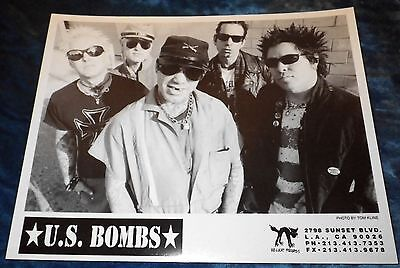 Rare 1999 Us Bombs The World Press Publicity Photo Hellcat Records 8X10 Punk Kbd