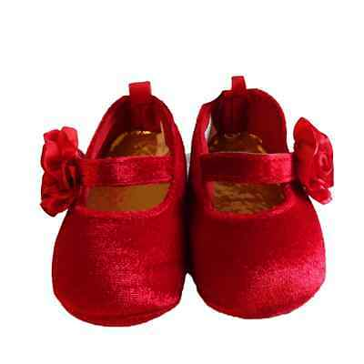 First Impressions Baby Girls' Red Mary Jane Shoes Size 2, 3-6 Months Dark Red