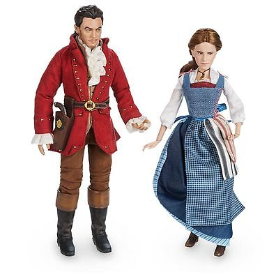 Disney Live Action Beauty and the Beast Belle and Gaston Emma Watson Dolls new