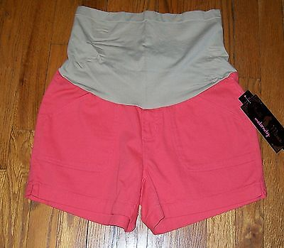 Nwt Haute Mama Maternity Shorts Soft Belly Band For Complete Comfort Size Small