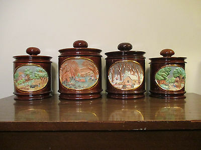 Beautiful 4pc Ceramic Kitchen Jars