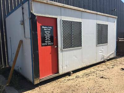 site shed 6x3 metres - white