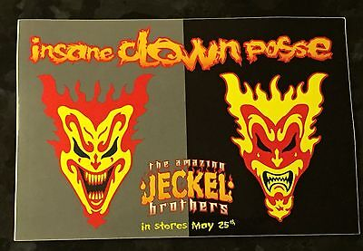Icp Twiztid Rare The Amazing Jeckel Brothers Insane Clown Posse Promo Sticker