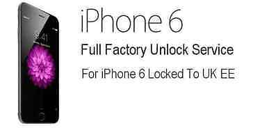 EE / Orange / T-Mobile UK iPhone 6 / 6+ Plus Unlocking Service Unlock Code