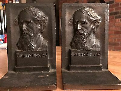 Charles Dickens Antique Book Ends