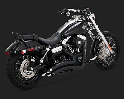 Vance and Hines Big Radius 2-Into-2 Exhaust System - Black for Dyna 46071