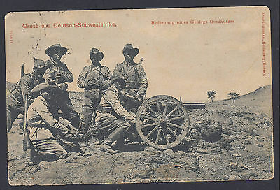 BB161101 GERMAN WWI Cannon South West Africa card South Africa 1915 Uitenhague
