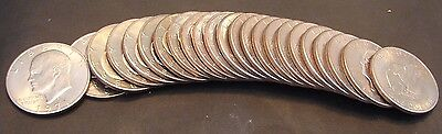 1971 - D Eisenhower Dollar -  Roll Of 20 -  Bu -  Hand Picked -  Free Shipping