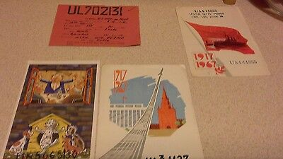 Four  QSL Amateur Radio Transmission Cards RUSSIAN ( 6)