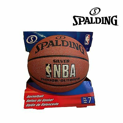 Spalding NBA SILVER INDOOR OUTDOOR Basketball Size 7 For Senior Players